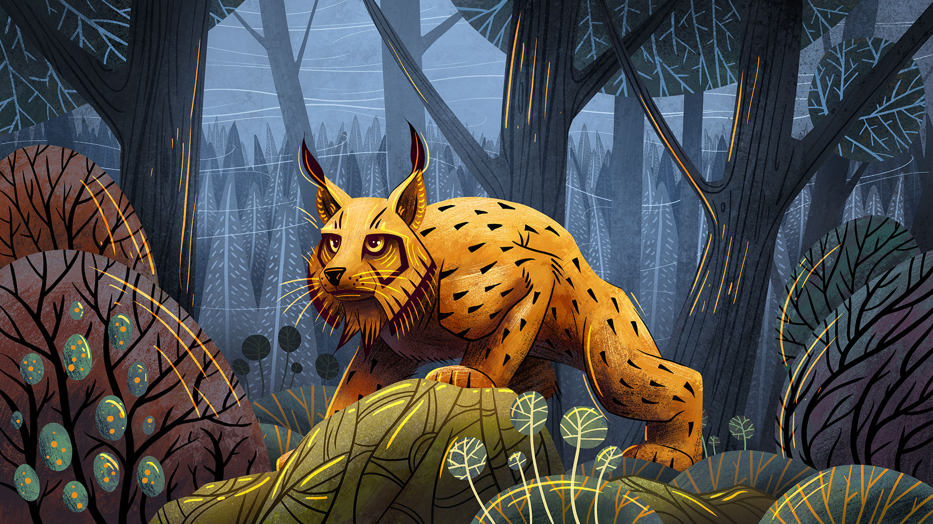 Wild Forest with Lynx